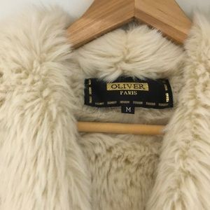 Women's Oliver faux suede and fur coat